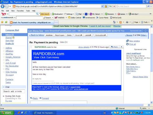 The answer I got from Admin that there are all payout's are canceld